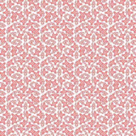 abstract paintings: Seamless texture with 3D rendering abstract fractal pink mosaic pattern on a white background for fabric design