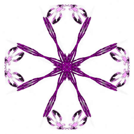 Abstract grunge purple floral pattern isolated on white background. Rough noise design.