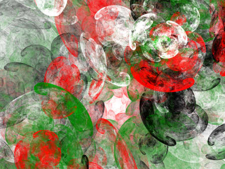 Abstract grunge dirty black green red contrast pattern on white background. Rough noise design. Stock Photo