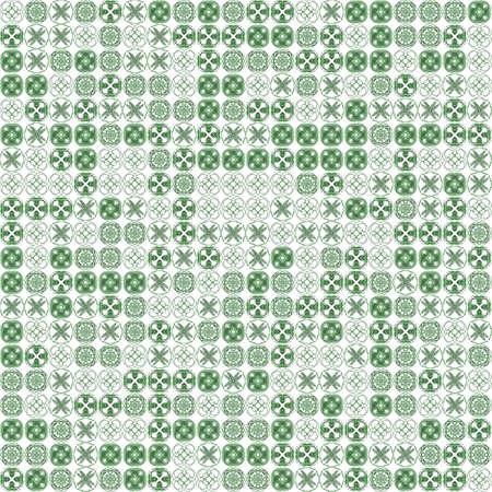 Abstract grunge green texture on white background. Rough noise design. Chaotically placed small fractal patterns. Stock Photo