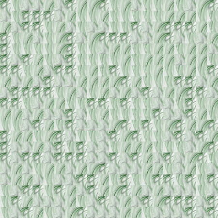 Abstract grunge green texture on white background. Rough noise design. Small broken mosaic patterns are chaotically placed. Stock Photo