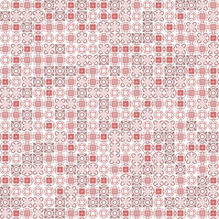Abstract grunge red texture on white background. Rough noise design. Chaotically placed small fractal patterns. Stock Photo