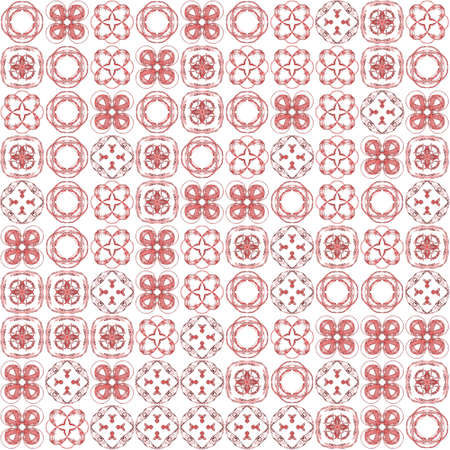 Abstract grunge red texture on white background. Rough noise design. Chaotically placed medium fractal patterns. Stock Photo