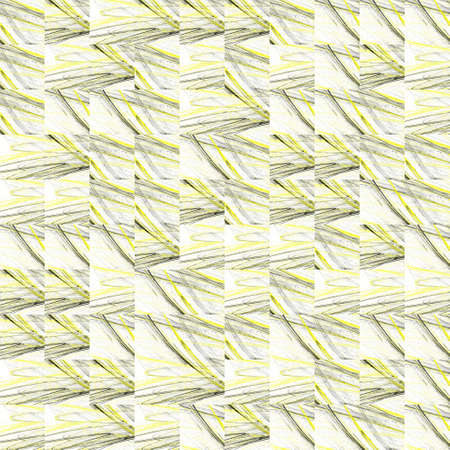 Abstract grunge yellow texture on white background. Rough noise design. Medium broken mosaic patterns are chaotically placed. Stock Photo
