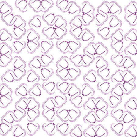 Abstract grunge purple texture on white background. Rough noise design. Medium broken mosaic floral patterns are chaotically placed. Stock Photo