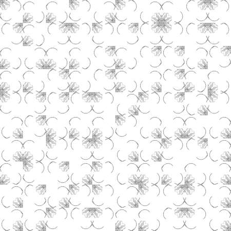 grime: Abstract grunge black texture on white background. Rough noise design. Medium broken mosaic floral patterns are chaotically placed. Stock Photo