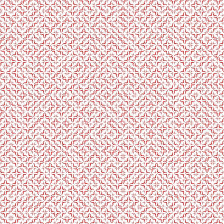 Abstract grunge red texture on white background. Rough noise design. Very small broken mosaic floral patterns are chaotically placed.