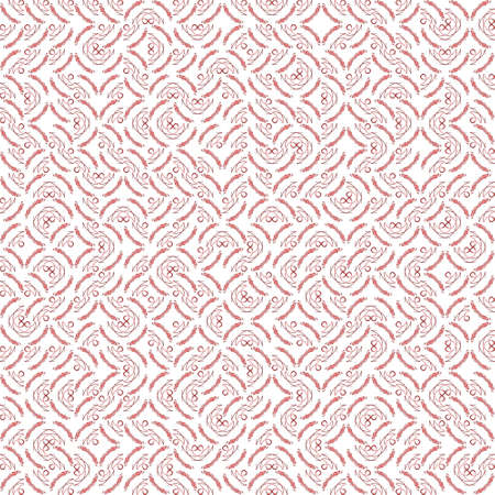 Abstract grunge red texture on white background. Rough noise design. Small broken mosaic floral patterns are chaotically placed.