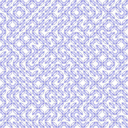 Abstract grunge blue texture on white background. Rough noise design. Small broken mosaic floral patterns are chaotically placed.