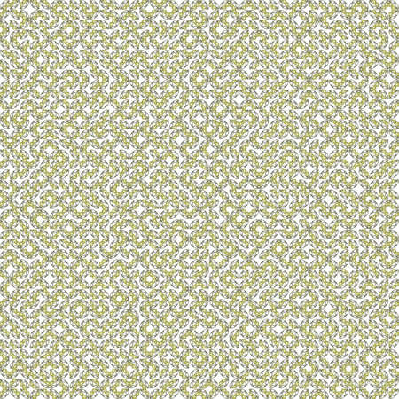 Abstract grunge yellow texture on white background. Rough noise design. Very small broken mosaic floral patterns are chaotically placed.