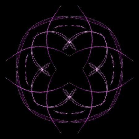 Abstract grunge purple floral pattern isolated on black background. Rough noise design.