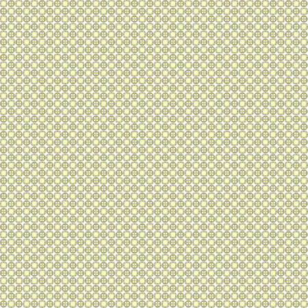 Seamless abstract grunge yellow texture on white background. Arranged in a staggered manner two very small floral fractal patterns. Rough noise design image.