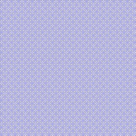 Seamless abstract grunge blue texture on white background. Arranged in a staggered manner two very small floral fractal patterns. Rough noise design image.