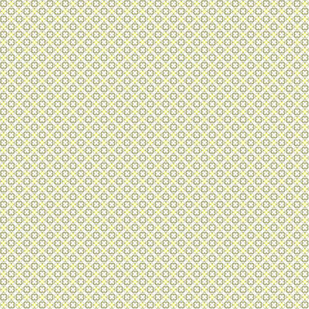 very dirty: Seamless abstract grunge yellow texture on white background. Arranged in a staggered manner two very small floral fractal patterns. Rough noise design image.