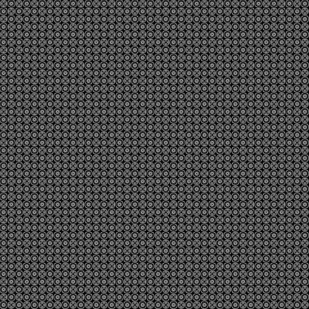 Seamless abstract grunge white texture on black background. Arranged in a staggered manner two very small floral fractal patterns. Rough noise design image.