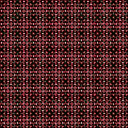 Seamless abstract grunge red texture on black background. Arranged in a staggered manner two very small floral fractal patterns. Rough noise design image. Stock Photo