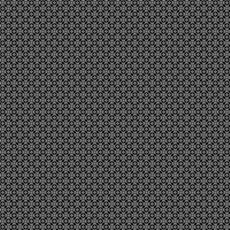very dirty: Seamless abstract grunge white texture on black background. Arranged in a staggered manner two very small floral fractal patterns. Rough noise design image.