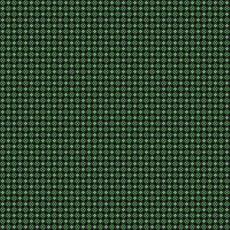 very dirty: Seamless abstract grunge green texture on black background. Arranged in a staggered manner two very small floral fractal patterns. Rough noise design image.