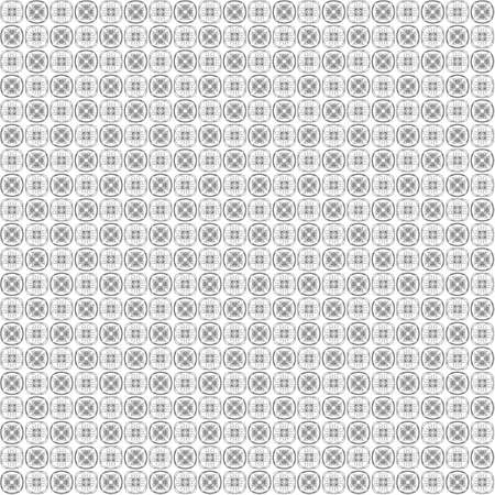 Seamless abstract grunge black texture on white background. Arranged in a staggered manner two small floral fractal patterns. Rough noise design image.