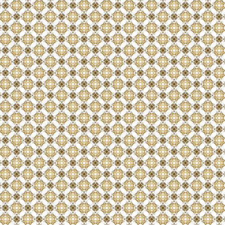 Seamless abstract grunge orange texture on white background. Arranged in a staggered manner two small floral fractal patterns. Rough noise design image.