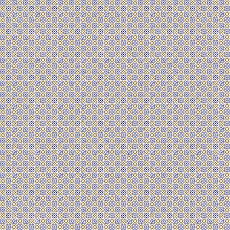 Seamless abstract texture fractal blue orange in two patterns on white background. Arranged in a staggered manner two very small floral fractal patterns.