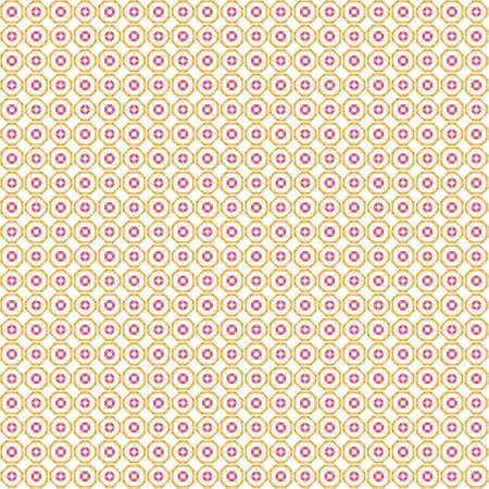 Seamless abstract texture fractal purple yellow in one patterns on white background. Arranged in a staggered manner two small floral fractal patterns.
