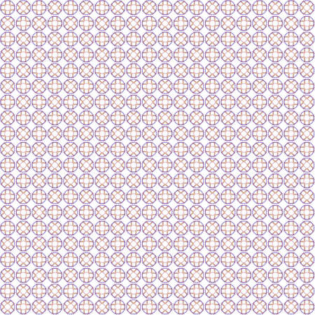 Seamless abstract texture fractal blue orange in one patterns on white background. Arranged in a staggered manner two small floral fractal patterns.