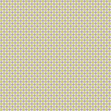 Seamless abstract texture fractal purple yellow in two patterns on white background. Arranged in a staggered manner two very small floral fractal patterns.