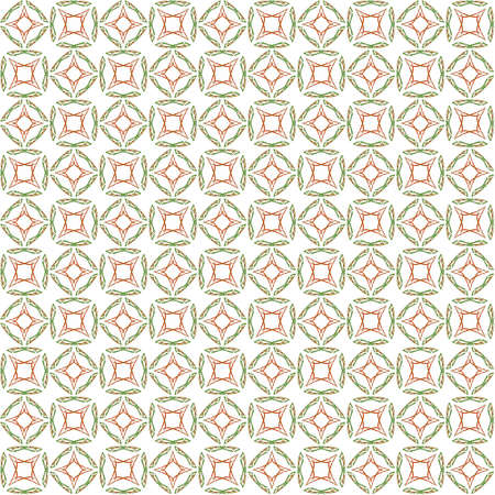 Seamless abstract texture fractal green red in one patterns on white background. Arranged in a staggered manner two medium floral fractal patterns.