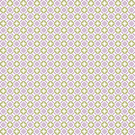 Seamless abstract texture fractal contrast purple yellow in two patterns on white background. Arranged in a staggered manner two small floral fractal patterns. Stock Photo