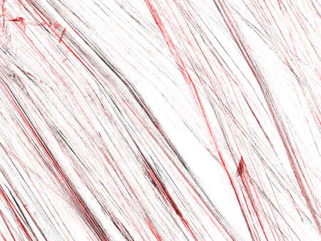 Grunge abstract black and red background on white backdrop. Three colors. Rectangular horizontal shape. Average rough noise design.
