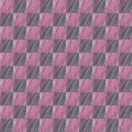 Grunge seamless abstract pink texture on white background. Arranged in a staggered manner two medium broken fractal patterns. Rough noise design image.