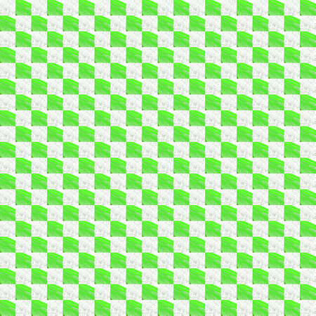 Grunge seamless abstract green square texture on white background. Arranged in a staggered manner two small broken fractal patterns. Rough noise design image.
