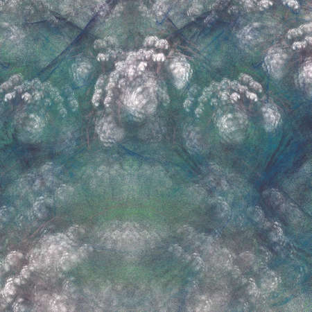 Grunge abstract square green pattern on white background. Rough noise design. 写真素材