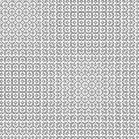 Seamless abstract black texture fractal patterns on white background. Arranged in a staggered manner two very small floral fractal patterns.