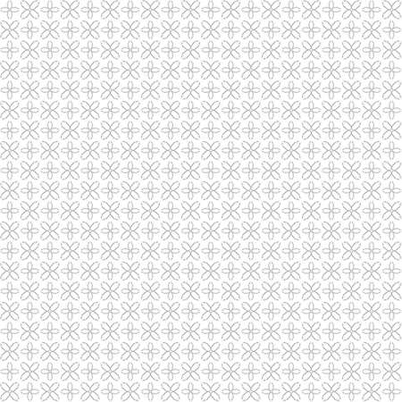 Seamless abstract black texture fractal patterns on white background. Arranged in a staggered manner two small floral fractal patterns. Stock Photo
