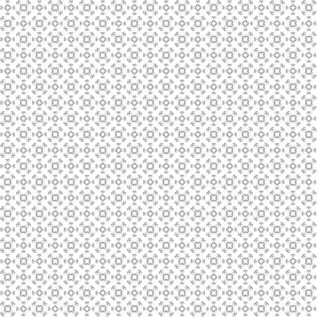 Seamless abstract black texture fractal patterns on white background. Arranged in a staggered manner two small floral fractal patterns. 스톡 콘텐츠