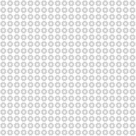 Seamless abstract black texture fractal patterns on white background. Arranged in a staggered manner two small floral fractal patterns. 写真素材