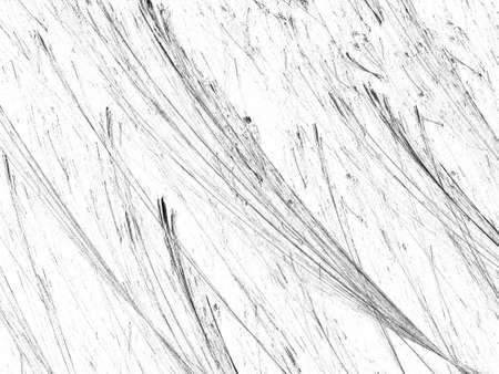 Grunge abstract black white background on white backdrop. Two colors. Rectangular horizontal shape. Average rough noise design. Stock Photo
