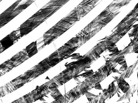 Grunge abstract black white background on white backdrop. Two colors. Rectangular horizontal shape. Average rough noise design. Standard-Bild