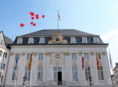 Historic Town Hall of Bonn. View from the market square.