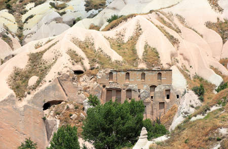 Uchisar, Valley of the dovecotes. Cappadocia, Central Anatolia, Turkey. Imagens