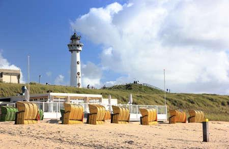 Lighthouse in Egmond aan Zee. North Sea, the Netherlands. Stockfoto
