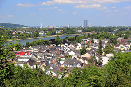 Aerial view of Bonn and the Rhine River. Germany. Standard-Bild