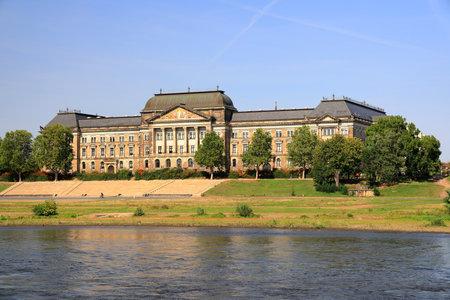 Saxon State Ministry of Finance in Dresden. Saxony, Germany, Europe. Standard-Bild