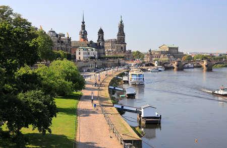 Dresden by day - Brühl's Terrace. Saxony, Germany, Europe.