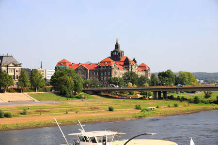 Saxon State Chancellery in Dresden. Saxony, Germany, Europe.