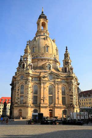 Lutheran church Frauenkirche in Dresden. Saxony, Germany, Europe.