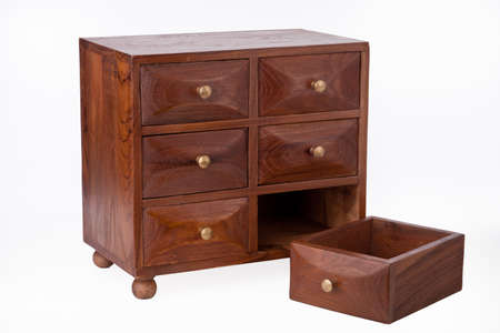 Little apothecary antique oak chest of drawers Stock Photo - 9304782