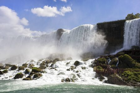 Beautiful Panorama of American Part of Niagara Falls photo